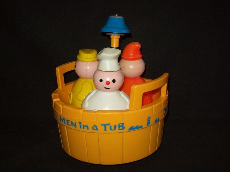 Vintage Fisher Price #142 Three Men in a Tub COMPLETE with Bell 3 people  | eBay