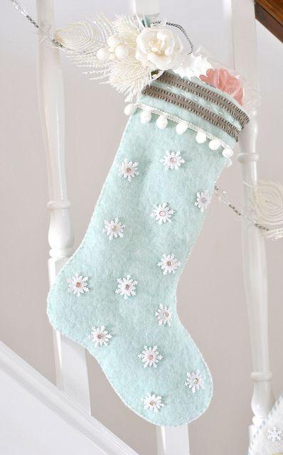 Snowflake stocking, via Flickr.