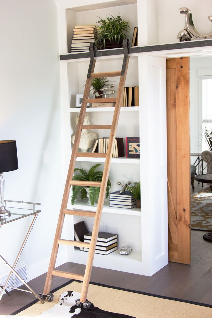 Beautiful Ladder Using Sliding Barn Door Hardware