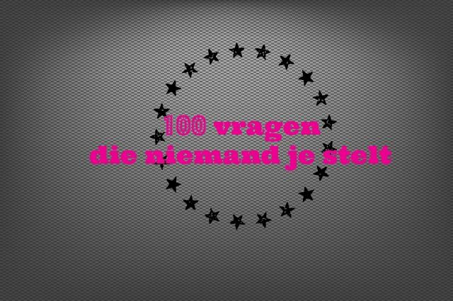 100 vragen die niemand je stelt tag - Mamaliefde.nl