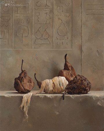 Marius van Dokkum : Mummies. A most interesting contemporary Dutch artist.