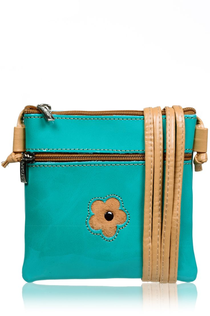 #FERCHI 	 MINI DAISY Green Patent Crossbody Bag   Price: € 33.00