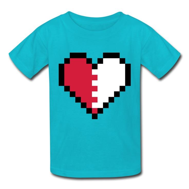 Broken Pixels: Broken Pixel Heart Shirts