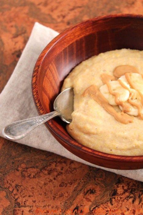 Peanut Butter & Banana Breakfast Polenta: Peanut Butter Banana, Bananas, Breakfast Polenta, Food, Healthy, Banana Polenta, Peanut Butter Breakfast, Banana Breakfast