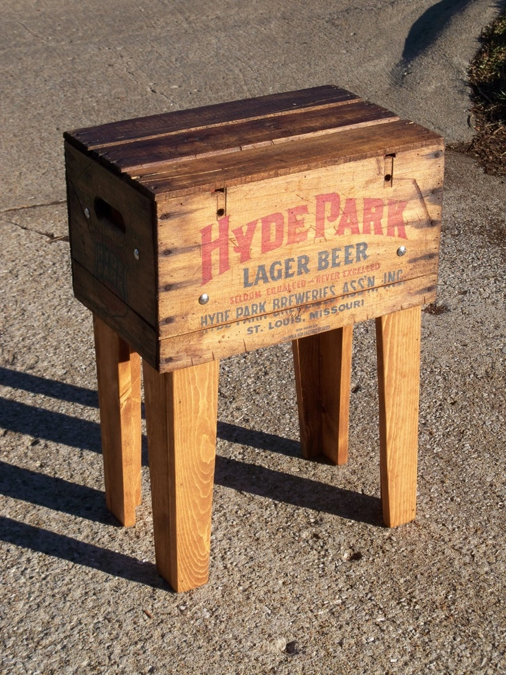 Shipping Crate TABLE HyDE PARK Lager BeeR St Louis by MrsRekamepip