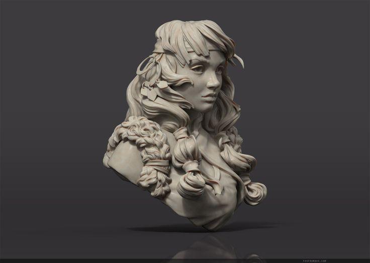 ArtStation - Shaman bust, Alina Ivanchenko