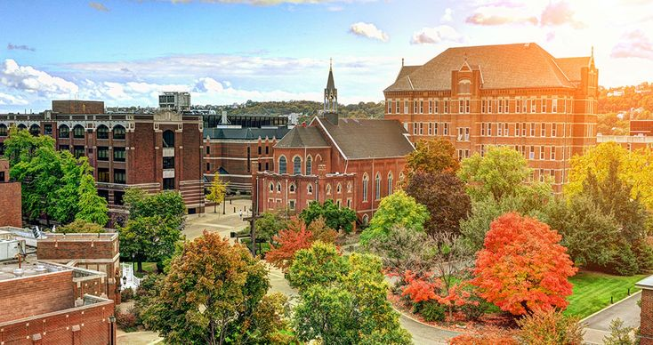 Duquesne University | Pittsburgh, PA | Medium-sized (6,000) Catholic university in the heart of Pittsburgh with a residential campus. Nine schools and colleges w/ 80 undergrad degree programs. Popular majors: music, music education, law, the sciences, and pharmacy. No Greek like, dry campus. Strong sense of volunteerism among students. Admission: Less Selective - 75%.