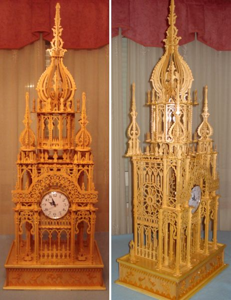 Imperial Tower Clock Scroll Saw Fretwork Pattern Scroll