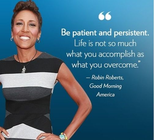 Robin Roberts, breast cancer survivor. She is a champion!