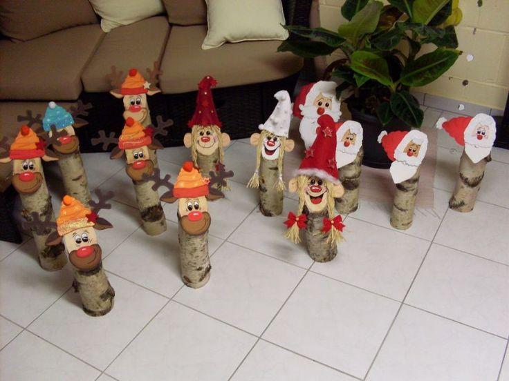 Bildergebnis für holzstamm weihnachten