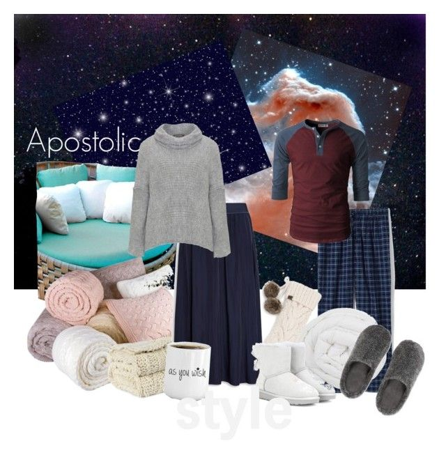 """Meteor shower date with hubs"" by emmyholloway on Polyvore featuring Skyline, Lands' End, The Fine Bedding Company, UGG, Amandine and Uniqlo"