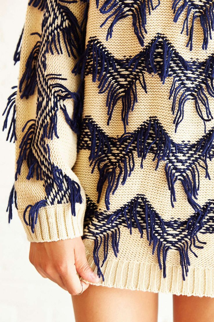 MINKPINK Lost In Space Textured Pullover Sweater