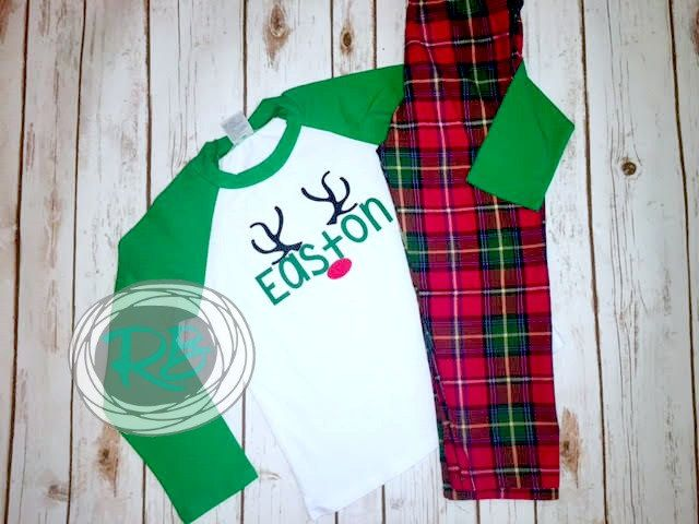 MATCHING CHRISTMAS PAJAMAS || Limited quantites still available || Childrens Christmas Set || Girls Christmas Gown || Family Christmas Pjs by RaeBellas on Etsy