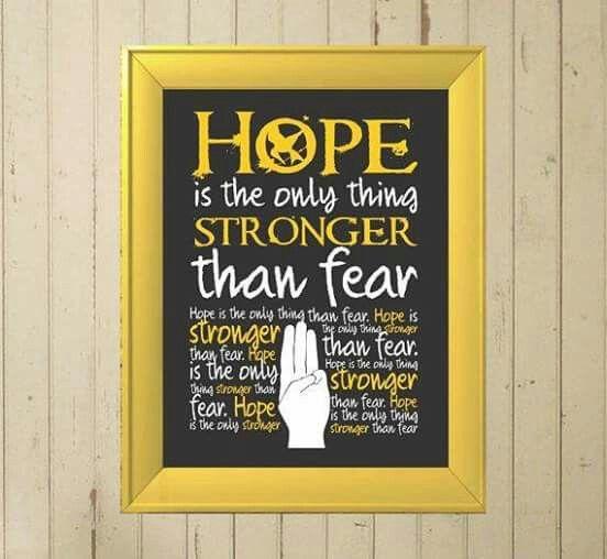 ~la esperanza es la unica cosa mas fuerte que el miedo #Nuestro lider el sinsajo .lll.