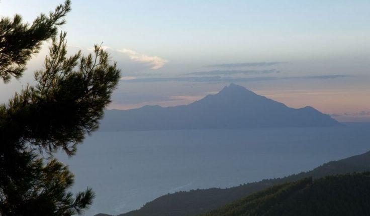 Mount Athos view from #Vourvourou #Halkidiki #travel #landscape