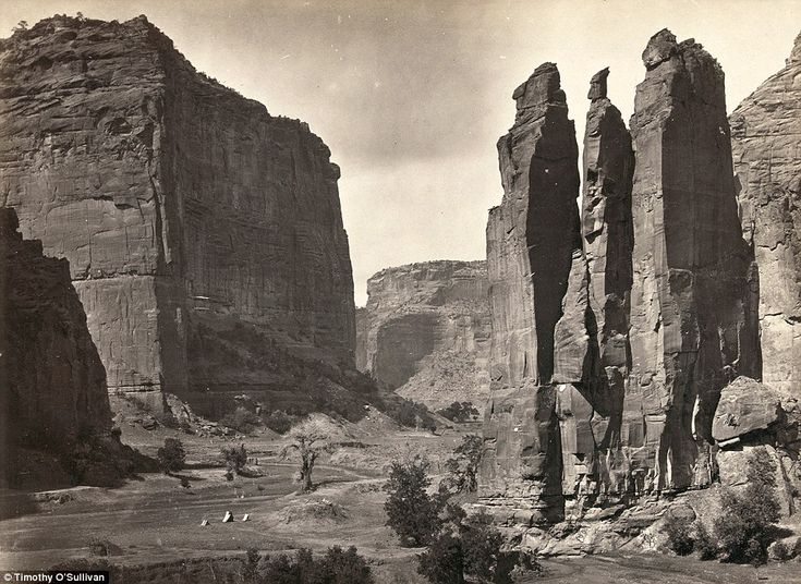 Tents Canyon de Chelly National Monument, Arizona. Photographed in 1873 by Timothy O'Sullivan