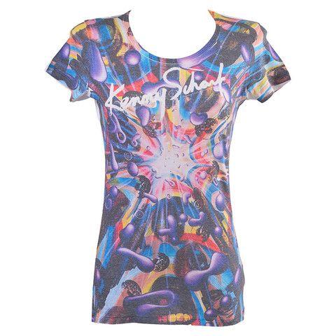 Γυναικείο T-shirt μωβ ''Explod'' Keny Scharf  http://brands4all.com.gr/collections/t-shirts