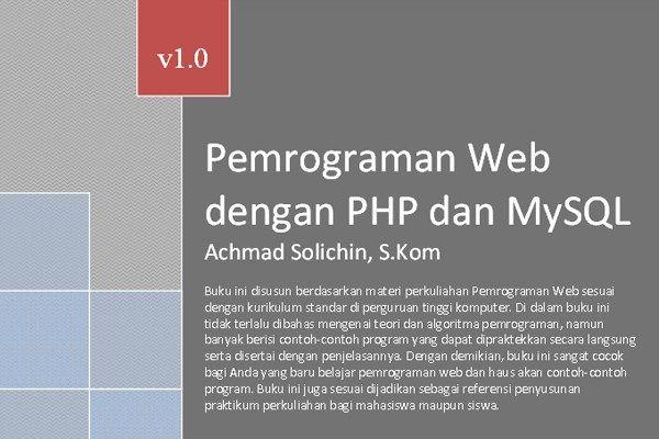 pemrograman web dengan php dan mysql