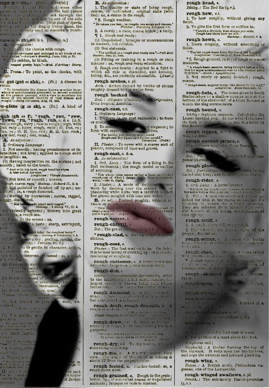 Sultry Marilyn Monroe, Marilyn Monroe Art Print, Print on Dictionary Paper, Wall Decor, Mixed Media Collage Book Art. $10.00, via Etsy.