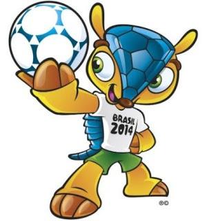 Nama Fuleco merupakan kombinasi kata sepak bola (futebol) dan ekologi (ecologia) dalam bahasa Portugal  terpilih sebagai pemenang dalam pemilihan nama maskot dengan lebih dari 48 persen dari 1,7 juta warga Brazil memberikan suaranya.