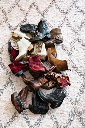 Erin Wasson's cowboy boot collection