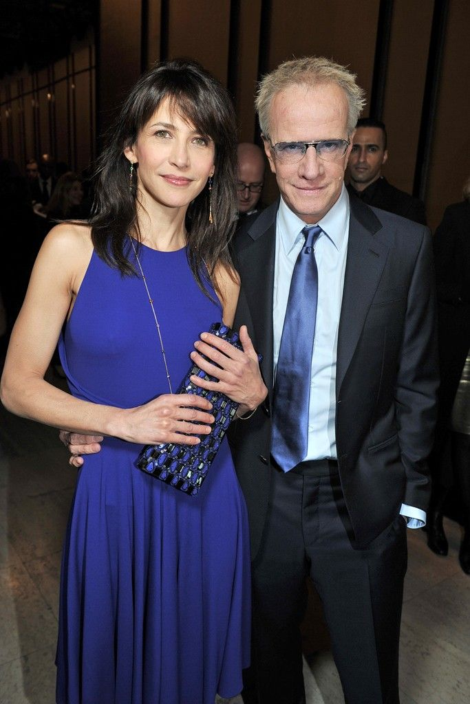 Sophie Marceau and Christopher Lambert at the #Armani Privé spring / summer 2014 show during #OneNightOnlyParis