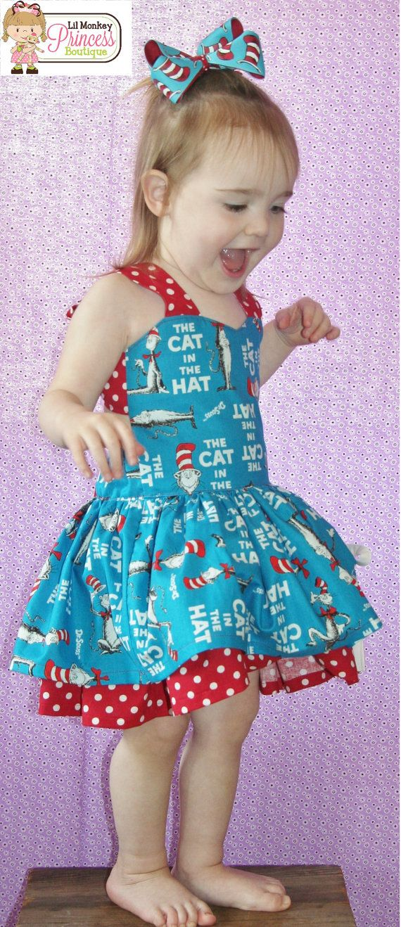 2t Dr Seuss Dress 2t Ready to ship dress 2t by LilMonkeyPrincess, $40.00:
