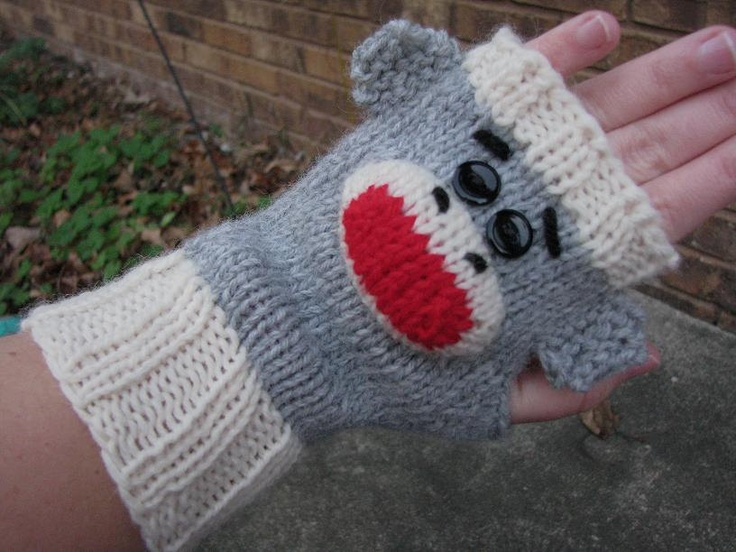 Free Crochet Pattern For Sock Monkey Mittens : 17 Best images about Knitting on Pinterest Free pattern ...