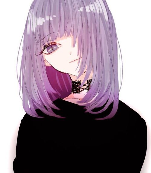 anime, girl, and purple