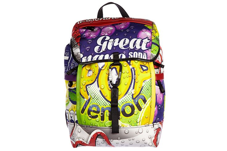 Moschino zaino borsa uomo nylon nuovo originale bubble multicolor Z1 A 7605 8055 1112 giallo   Frmoda.com
