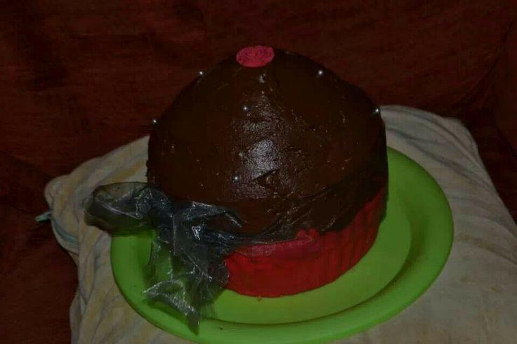 Giant Chocolate Valentines Cupcake