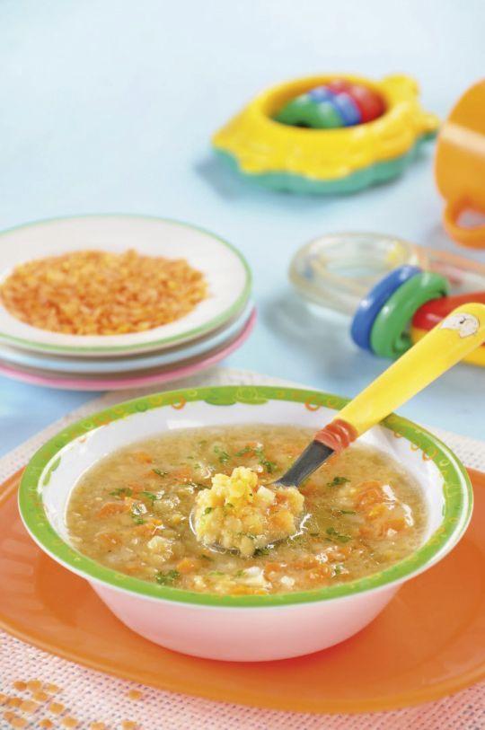 Pyszna zupa z soczewicy, idealna dla malucha