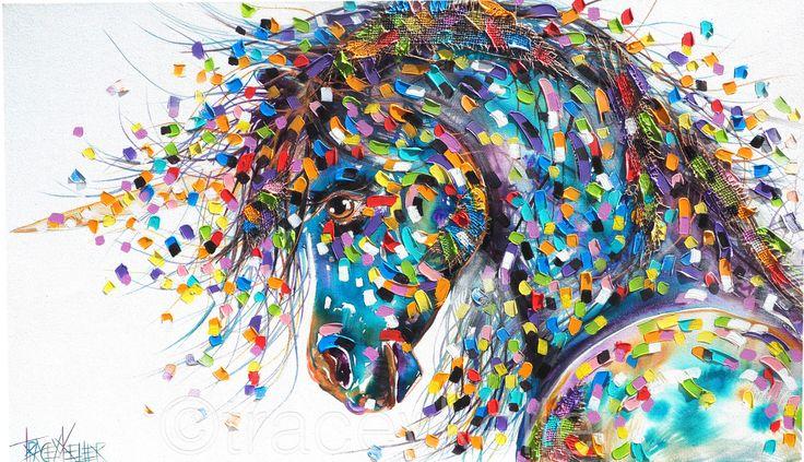 Unicorn painting tracey keller