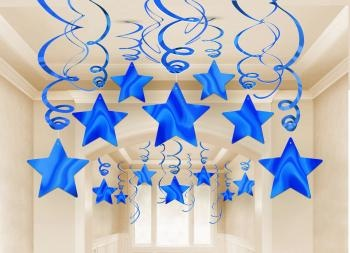 Blue Shooting Star Decorations