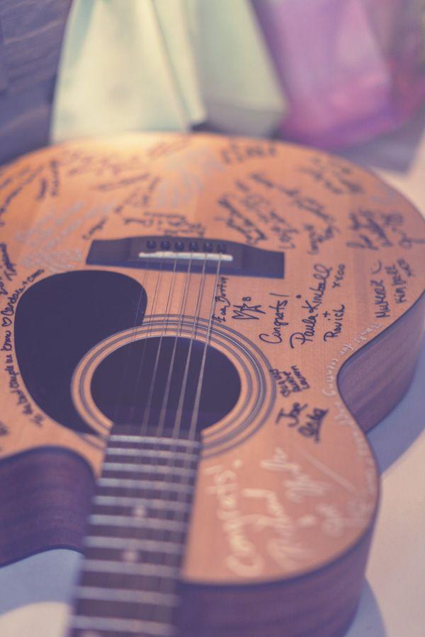 guitar as guest book