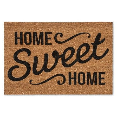 Just bought this cute Home Sweet Home doormat from Target and love it!