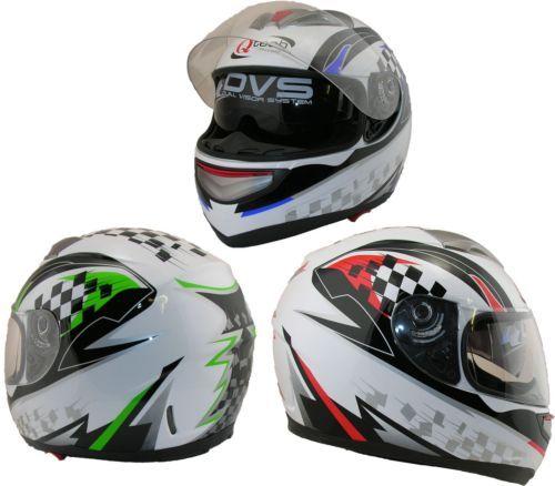 Full-FACE-Road-Legal-Crash-Helmet-DOUBLE-Visor-Motorcycle-Motorbike-Scooter  £32.95   0N 01270 841877