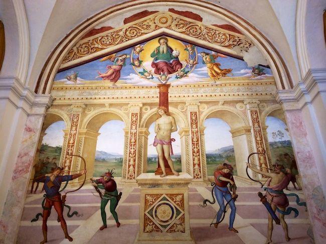 Martirio di San Sebastiano a Panicale