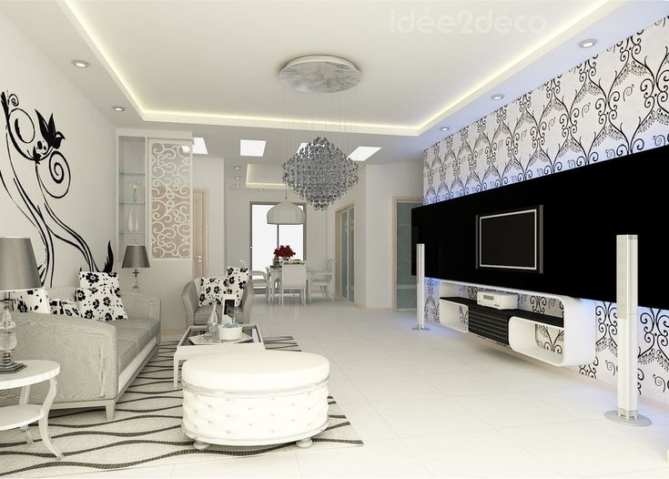 belle deco salon design blanc
