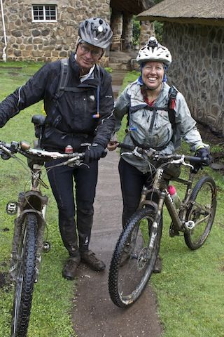 Muddy smiles after a long day in the saddle, Semonkong, Lesotho.