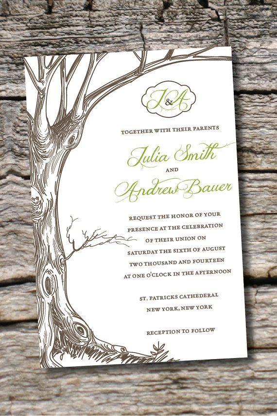 15 best Invitations images on Pinterest | Invitation ideas, Tree ...