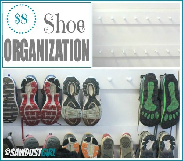 Entry Organization with Shoe Pegs