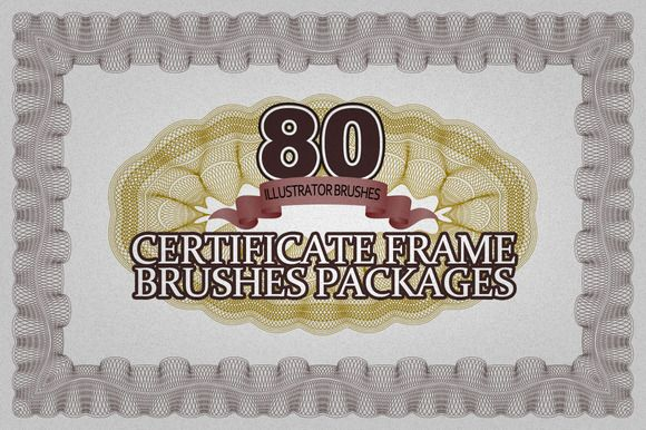 The Brushes Packages be used create the certificate frame and a guilloche rose, you can easily draw the certificate framework, and can change the color or line thickness, 80 styles of your choice.