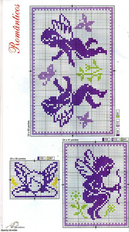 ange - angel - point de croix - cross stitch - Blog : http://broderiemimie44.canalblog.com/