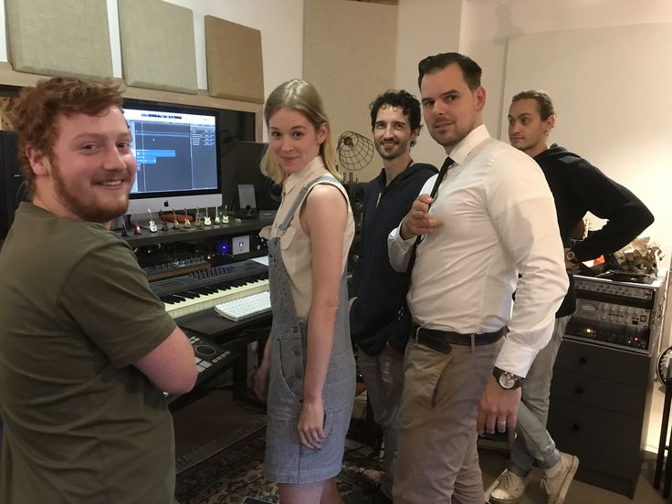 Damian de Boos-Smith - Church Street Studios Sydney (third from right) and cast of Power and Prophet