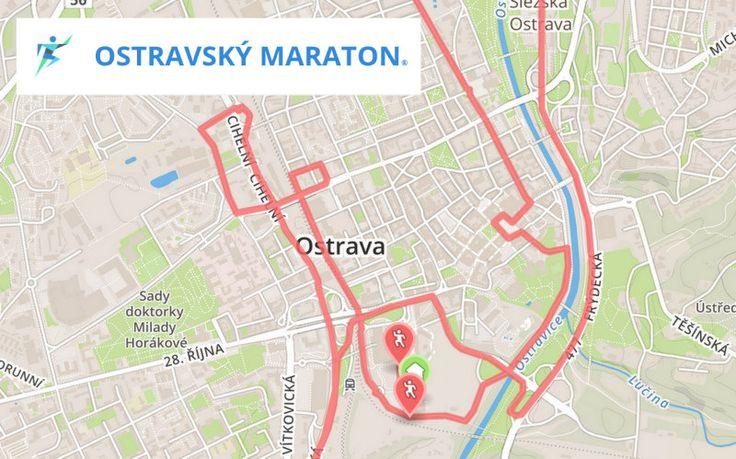 Prostě běž! - Ostravský maraton - trasa