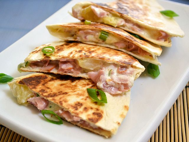 Hawaiian Ham Quesadillas **I've already made it multiple times. An interesting taste but really good!