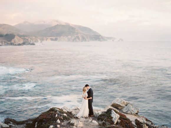 Romantic Big Sur Elopement - Wedding Sparrow | Best Wedding Blog | Wedding Ideas