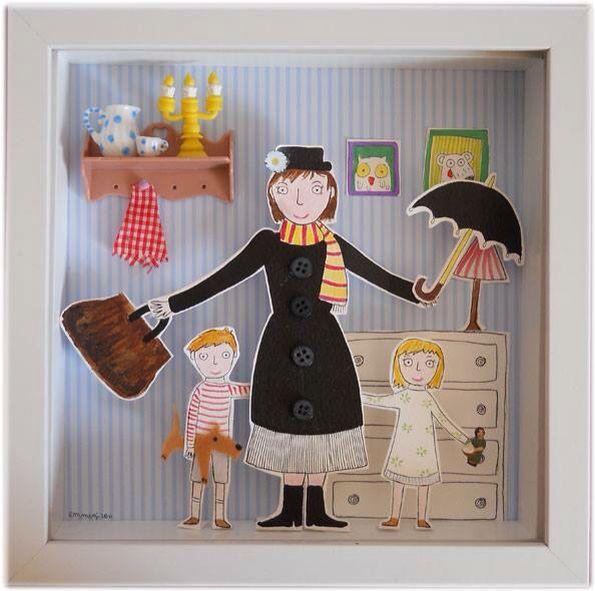 Mary poppins quadretto 3d