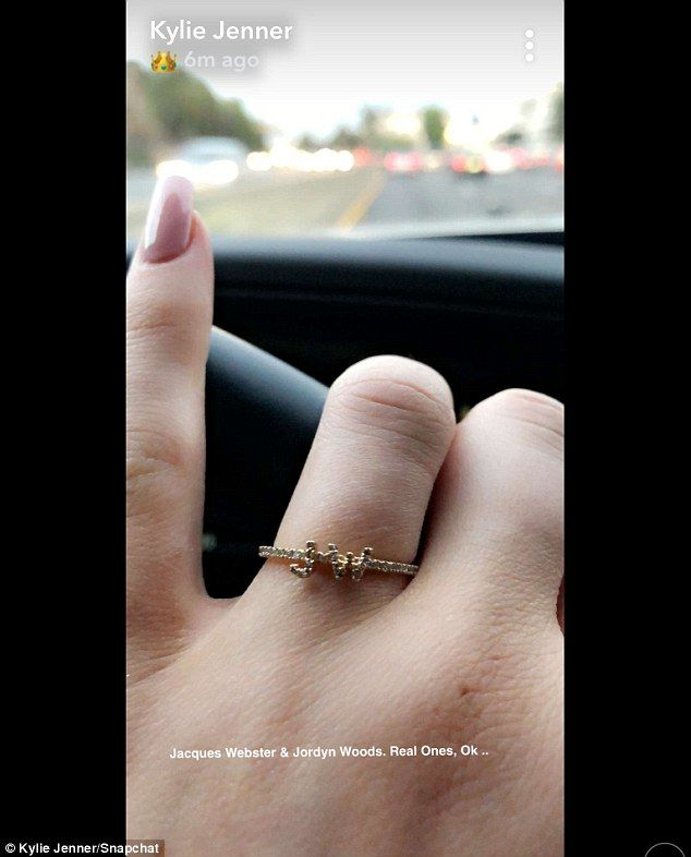 882a4855b8a2 Jacques Webster   Jordyn Woods  Kylie Jenner reveals new JW ring on wedding  finger is dedicated to her BFF and